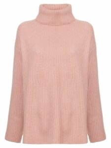 Le Kasha ribbed oversized polo neck jumper - PINK