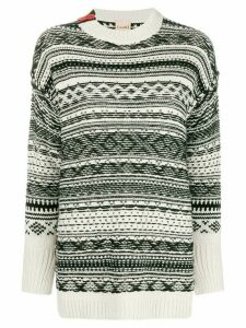 Nude patterned jumper - Black