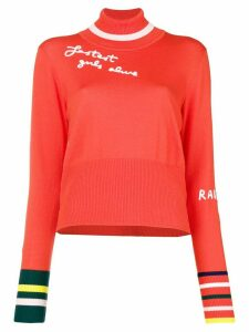 Mira Mikati fine knit embroidered sweater - Yellow