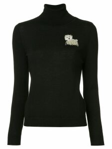Boutique Moschino roll neck sweater - Black