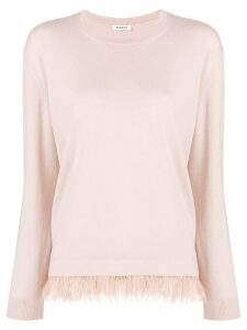 P.A.R.O.S.H. feather trim jumper - PINK