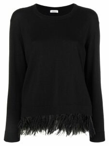 P.A.R.O.S.H. feather trim jumper - Black