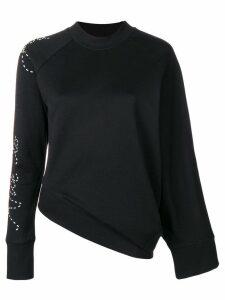 Y-3 Y-3 Adidas X Yohji Yamamoto angled waist slogan sweater - Black