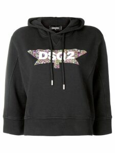 Dsquared2 branded hoodie - Black