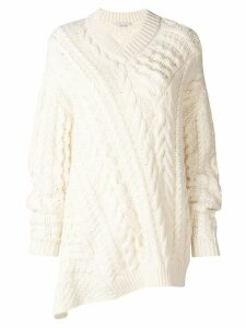 Stella McCartney cable-knit oversized sweater - White