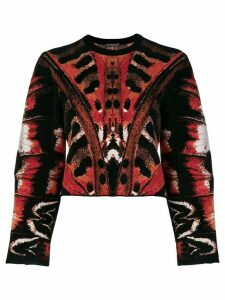 Alexander McQueen printed blouse - Black