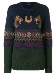 Polo Ralph Lauren motif knit sweater - Blue