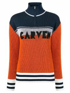 Carven colour block jumper - ORANGE