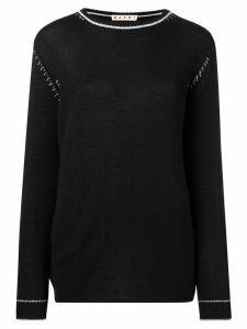 Marni contrast stitch jumper - Black