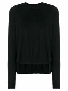Versace asymmetric hem jumper - Black
