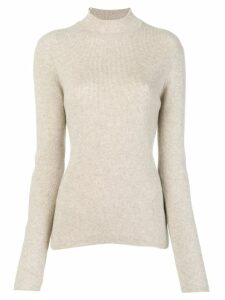 Pringle of Scotland ribbed roll neck sweater - Neutrals