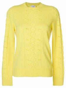 Barrie frayed knit jumper - Yellow