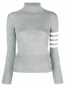 Thom Browne striped turtleneck sweater - Grey