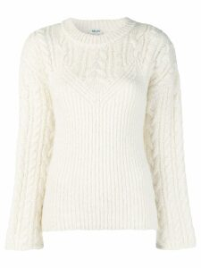 Kenzo multi-knit sweater - White