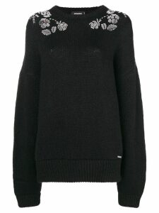 Dsquared2 floral embellished jumper - Black