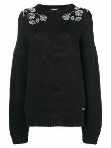 Dsquared2 floral embellished jumper - Black