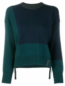 Kenzo colour block knit sweater - Blue