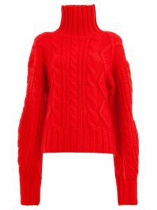 Aalto cable-knit jumper - Red