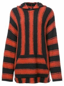 Amiri oversiz striped jumper - Black