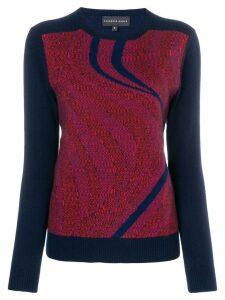 Cashmere In Love sky intarsia jumper - Blue