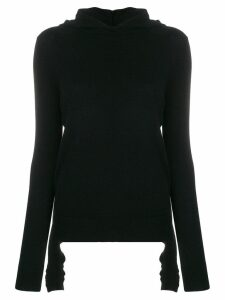 Cashmere In Love Mabel hooded jumper - Black