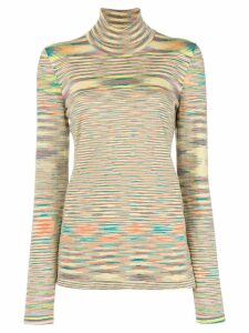 Missoni striped turtleneck jumper - Yellow