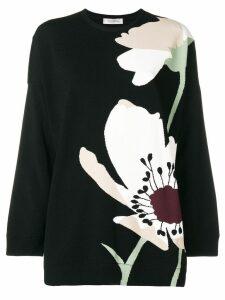 Valentino floral intarsia jumper - Black