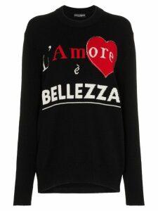 Dolce & Gabbana 'l'amore è Bellezza' Cashmere Sweater - Black