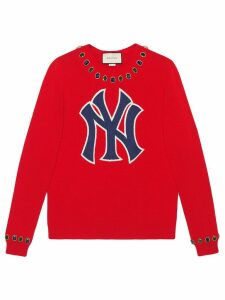 Gucci Wool sweater with NY Yankees™ patch - Red