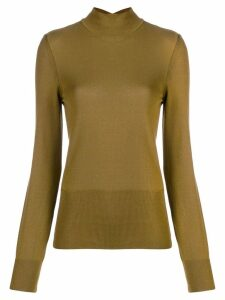 Jacquemus cut-out back detail sweater - Green