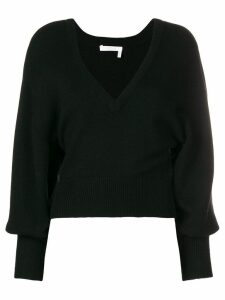 Chloé v-neck cropped sweater - Black