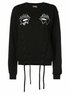 Haculla Evil Eye lace-detail sweatshirt - Black