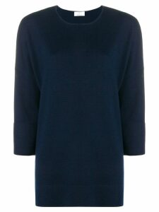 Allude boxy fine knit sweater - Blue