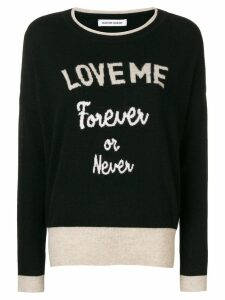 Quantum Courage Love Me Forever sweater - Black