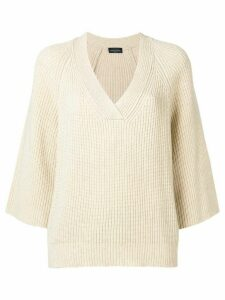 Roberto Collina v-neck jumper - Neutrals