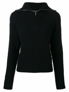 Isabel Marant zip front ribbed jumper - Blue