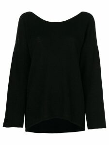 Le Kasha Cortina v-back jumper - Black