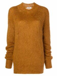 Jil Sander fuzzy knit sweater - Brown