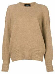 Maison Flaneur crew neck sweater - Brown
