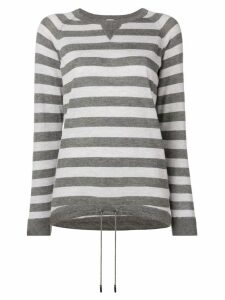 Eleventy striped pattern sweater - Grey