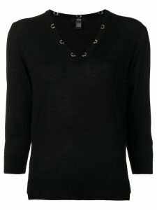 Cavalli Class V-neck sweater - Black