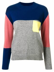 Chinti & Parker cashmere colour block sweater - Grey
