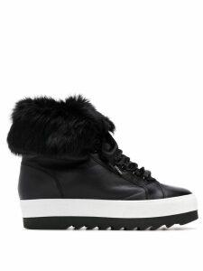 Hogl lace-up platform boots - Black