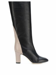 Gia Couture contrast heel boots - Black
