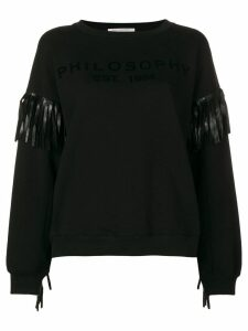 Philosophy Di Lorenzo Serafini fringed sweater - Black
