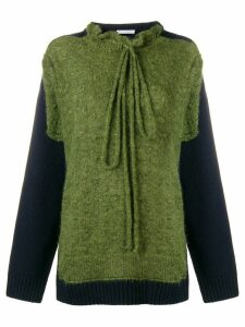 JW Anderson military green trompe l'oeil knit jumper