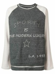 Lorena Antoniazzi round neck sweater - Grey