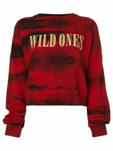 AMIRI Wild Ones tie dye sweatshirt - Red