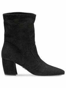 Prada pointed toe ankle booties - Black
