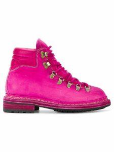 Guidi distressed 'Cordovan' trekking boots - Pink